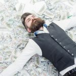 Business,Man,,Millionaire,,Billionaire,,Bearded,Man,With,Many,Banknote.,Business